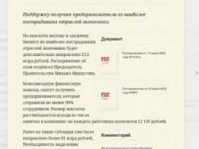 Михаил Мишустин выделил дополнительно 23 млрд рублей на субсидии малому и среднему бизнесу
